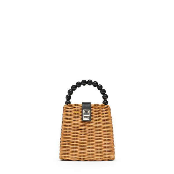 Brand Designer Bead Hand-Woven Tote - Jance Samantha Beauty & Fashion