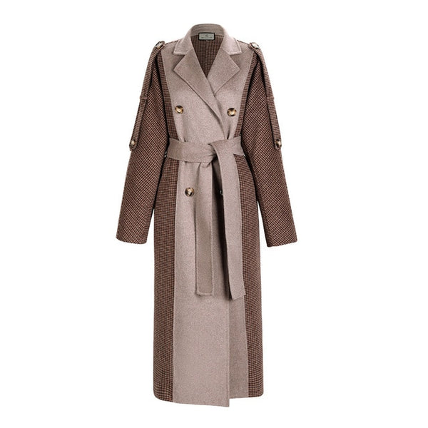 Upmarket Double Woolen Coat - Jance Samantha Beauty & Fashion