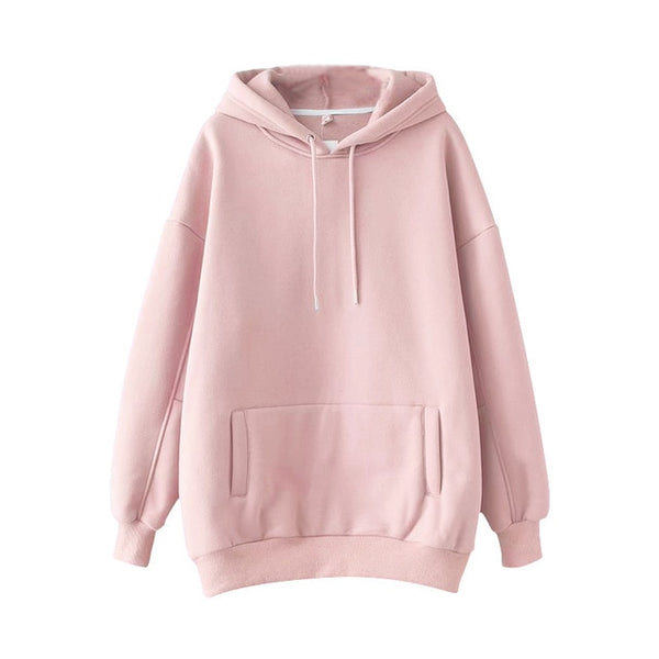Solid Hooded Hoodies - Jance Samantha Beauty & Fashion
