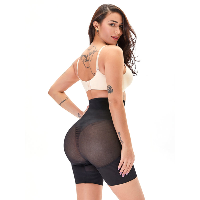 High Waisted Bodysuit Panties Thigh Slim Mid-Thigh Thin - Jance Samantha Beauty & Fashion