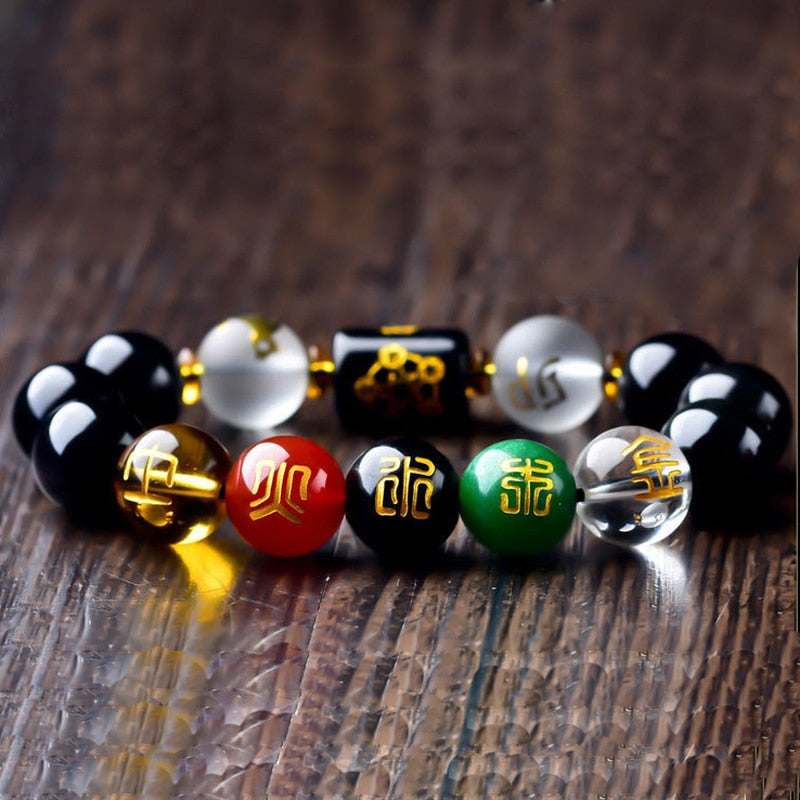 Feng Shui Obsidian Bracelet - Jance Samantha Beauty & Fashion