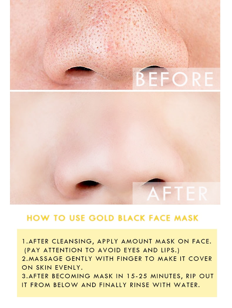 Gold Blackhead Remover Mask Facial Moisturizing Cream - Jance Samantha Beauty & Fashion