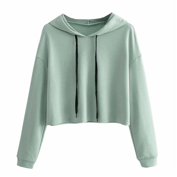 Fashion Casual Hooded Sweatshirt Ladies Long Sleeve Pullover Tops - Jance Samantha Beauty & Fashion
