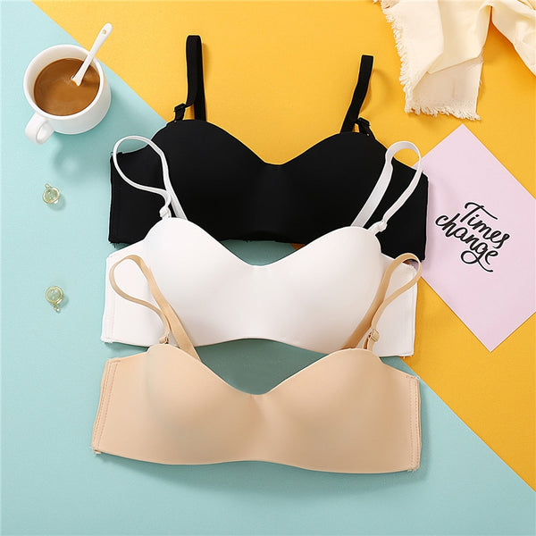 Seamless Wireless Bra 1/2 Cup Wireless Brassiere - Jance Samantha Beauty & Fashion