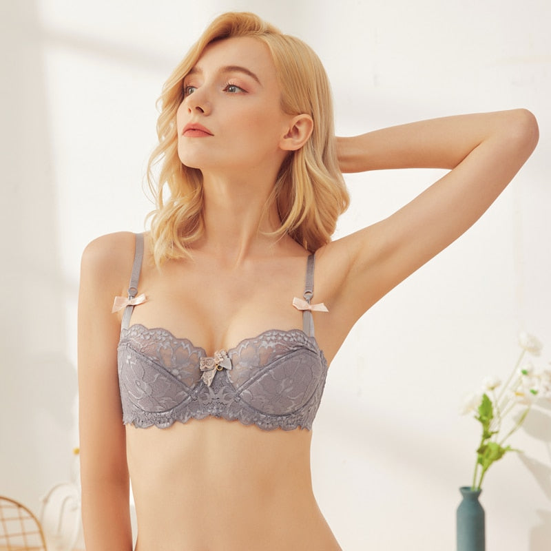 Unlined Push Up Lace Demi Brassiere Breathable Set - Jance Samantha Beauty & Fashion
