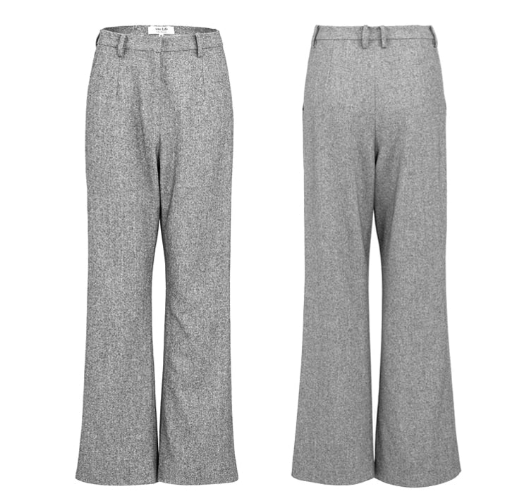 Spring Autumn Gray Pant Suits - Jance Samantha Beauty & Fashion