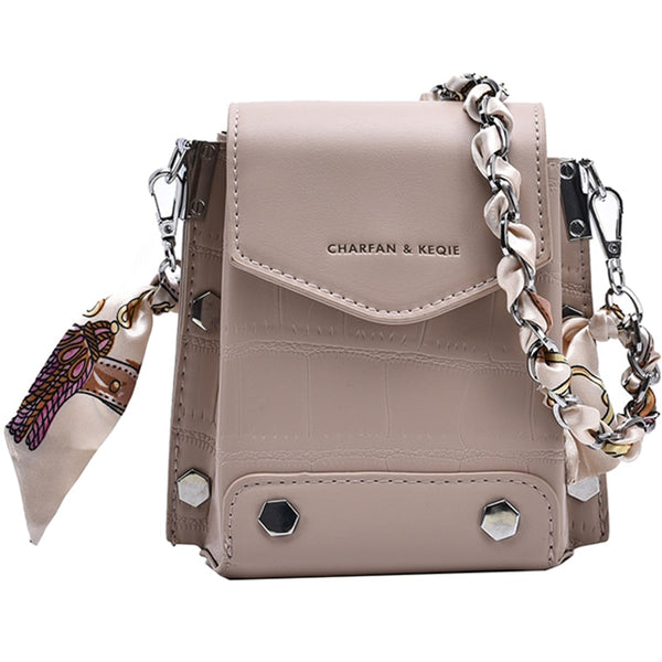 Rivets Mini  PU Leather Crossbody Bags F - Jance Samantha Beauty & Fashion, LLC