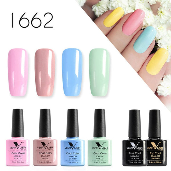 Nail Art Design Soak off UV Mirror Gel Nail Polish Gel Lacquer Varnishes kit - Jance Samantha Beauty & Fashion
