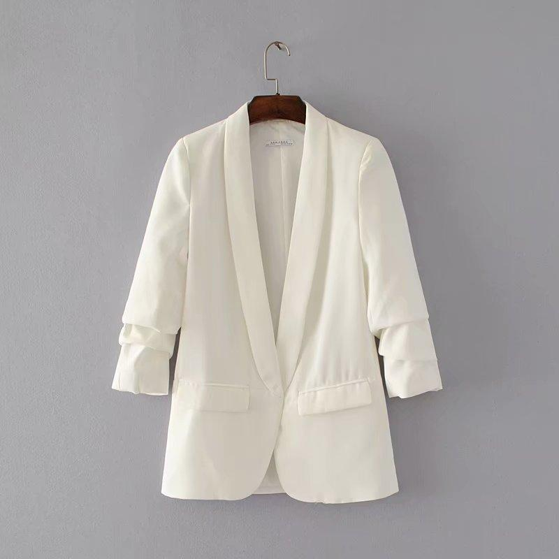 Shawl Collar Elegant Blazer - Jance Samantha Beauty & Fashion