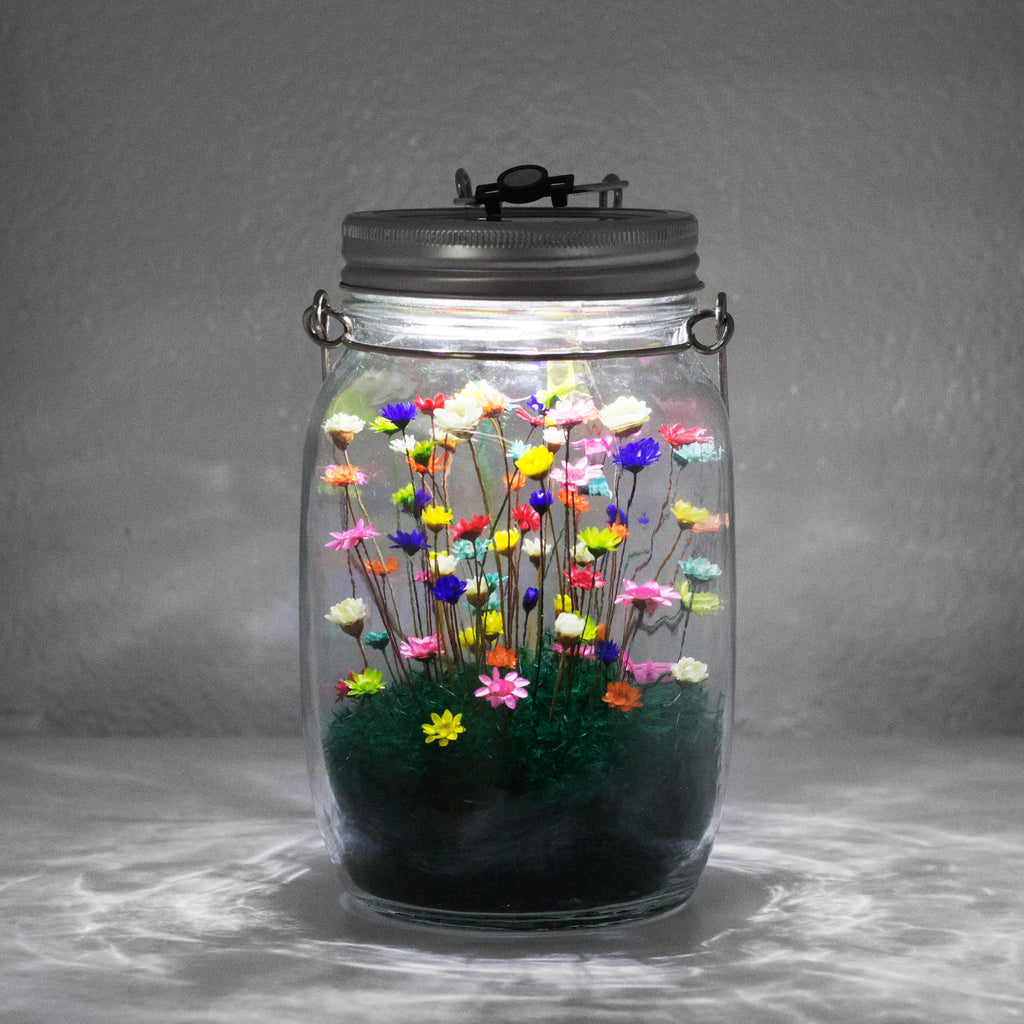 Mason Jar with LED Light