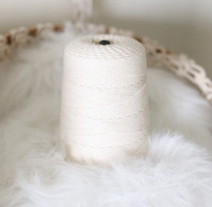 NATURAL COTTON ROPE (1 SPOOL)