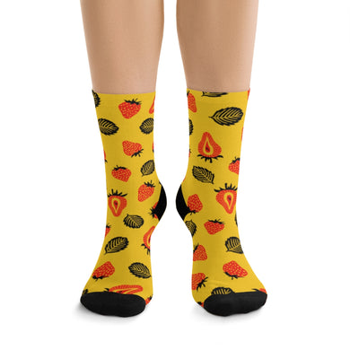 Strawberry Socks - (Yellow)