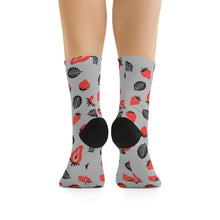 Load image into Gallery viewer, Strawberry Socks - (Grey)