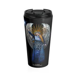 """The Guardian"" Angel Stainless Steel Travel Mug"
