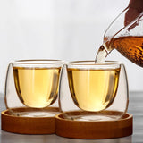80ml Double Wall  Coffee Cups with Tray - Daily essentials