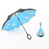 Reverse Umbrella with Cute Design - Daily essentials