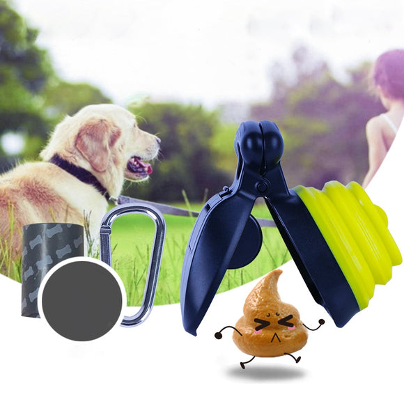Dog Pet Travel Foldable Pooper Scooper With 1 Roll Decomposable bags - Daily essentials