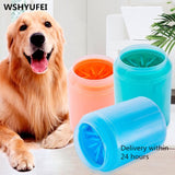 Dog Paw Cleaner Cup Soft Silicone Combs Portable Outdoor Pet towel - Daily essentials