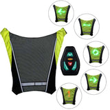 Reflective Vest Bicycle Safety LED Backpack - Daily essentials