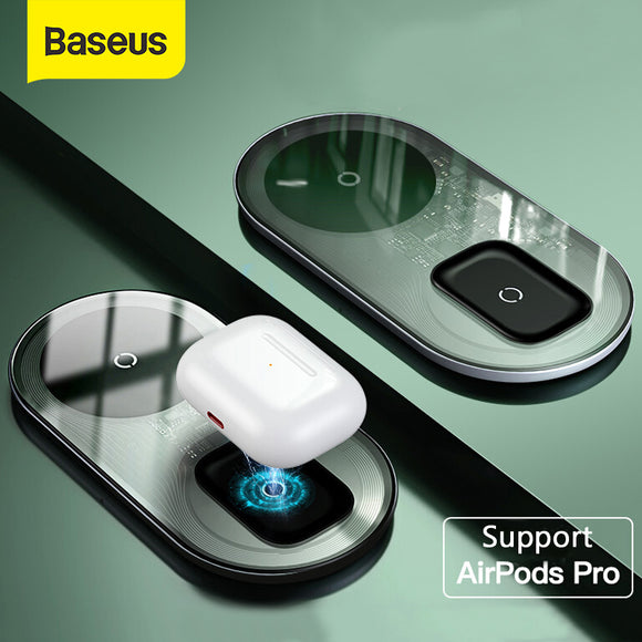 Baseus 15W Dual Wireless Charging Pad - Daily essentials