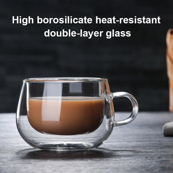 Double layered  Glass Mug 150ml - Daily essentials
