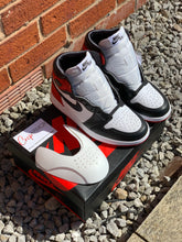 Load image into Gallery viewer, BRAND NEW Air Jordan 1 WMNS Retro High 'Satin Black Toe'