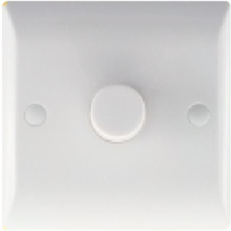 Hamilton Vogue White Push On/Off LED Dimmer 1 gang 2 way 100W max. Standard Insert will be Vogue White.