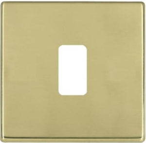 Hamilton Hartland CFX Grid Polished Brass 1 Gang Concealed Fix Grid Fix Aperture Plate with Grid.
