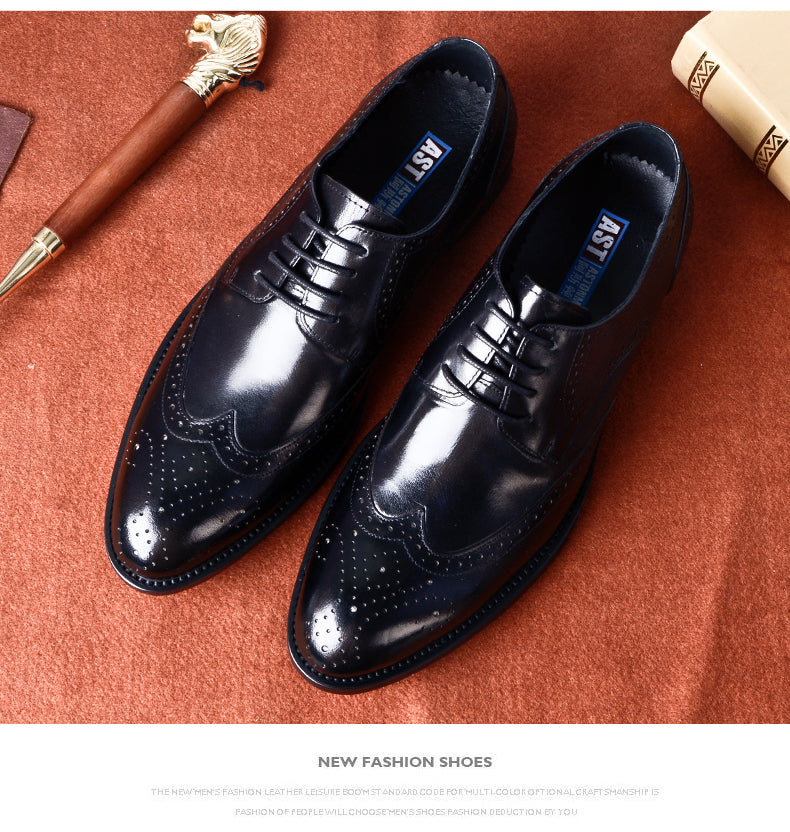 2019 Mens formal shoes genuine leather