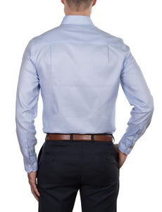 Hardy Amies Micro Grid Business Shirt (Slim Fit)
