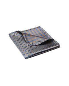 Buckle Paisley Grey Pocket Square