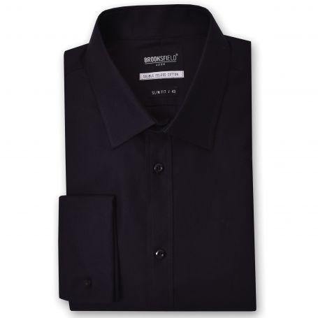 Brooksfield Shirt - The Classic French Cuff Black