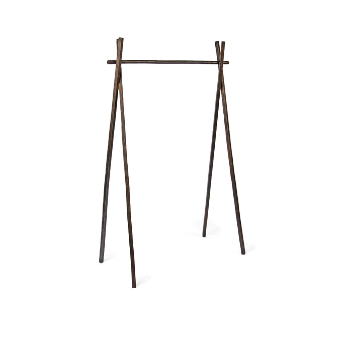 Arbor Rack, forged steel clothing rack in vintage bronze finish