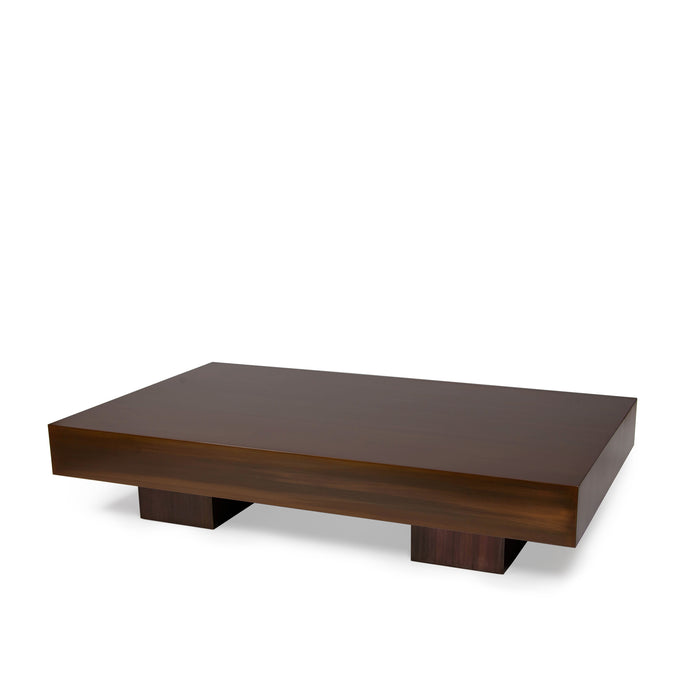 Hiro Table, minimalist coffee table with vintage bronze finish
