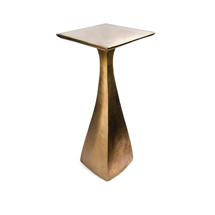 Vince Table, cast bronze side table with curved form