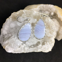 Load image into Gallery viewer, Blue Lace Agate Earrings