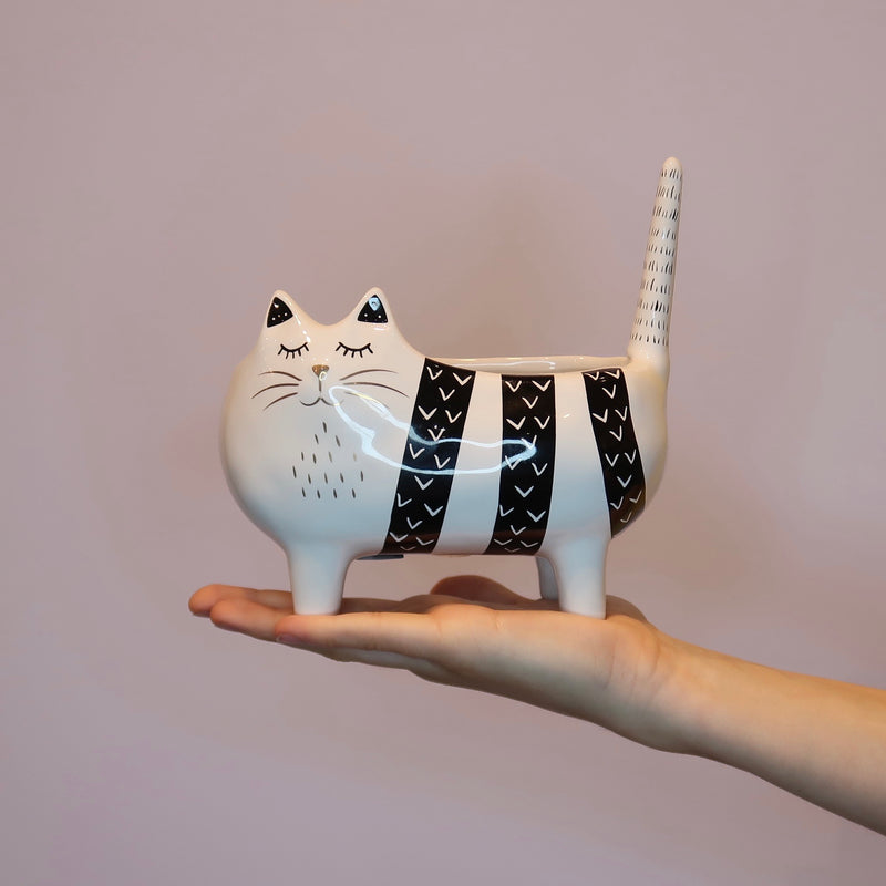 Colin Cat Ceramic Planter (XS)