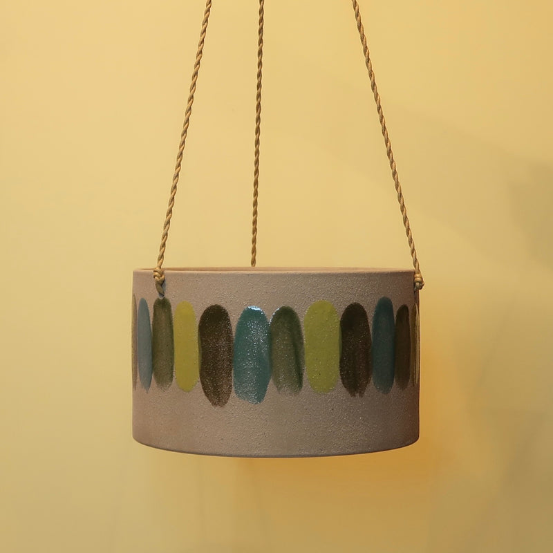 Frankie Hanging Planter Pot - Green (M)