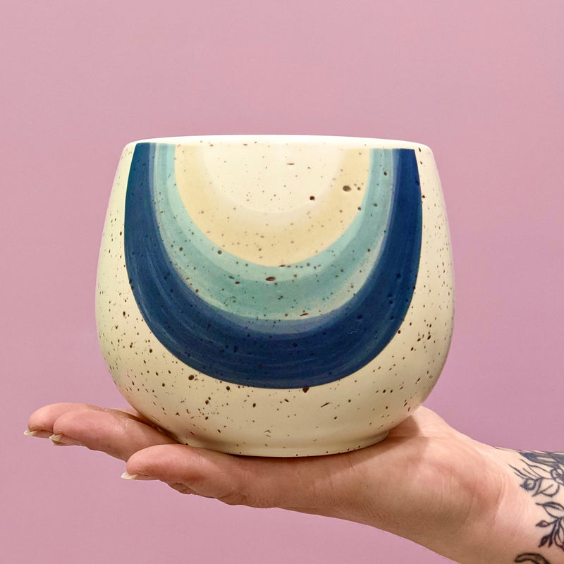 Rainbow Ceramic Pot - Blue (S)