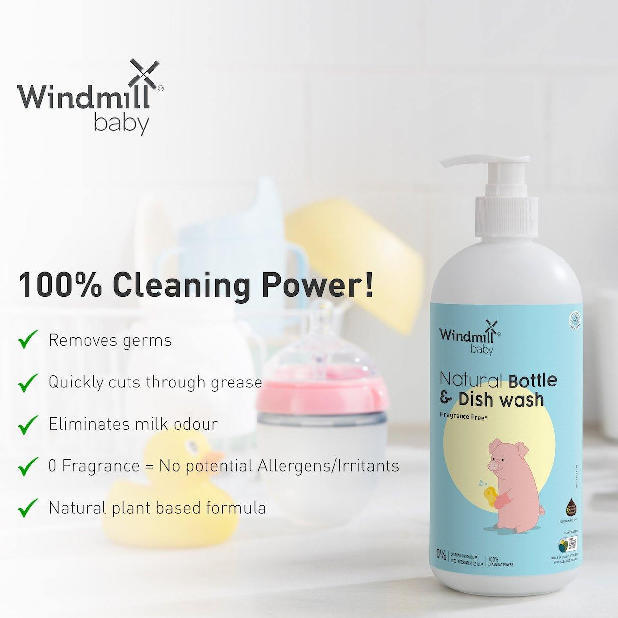 Natural Bottle and Dish Wash - Windmill Baby