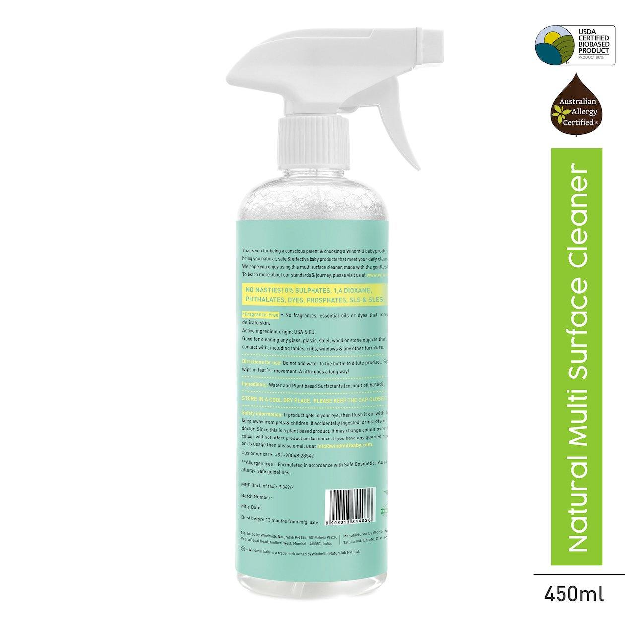 Natural Multi Surface Cleaner - Windmill Baby