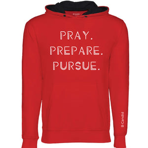 Pray Prepare Pursue Hoodie - Red/Black