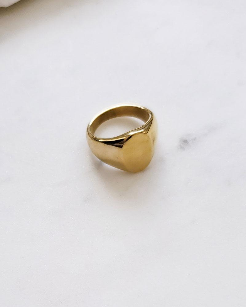 Pablo Signet Ring Gold