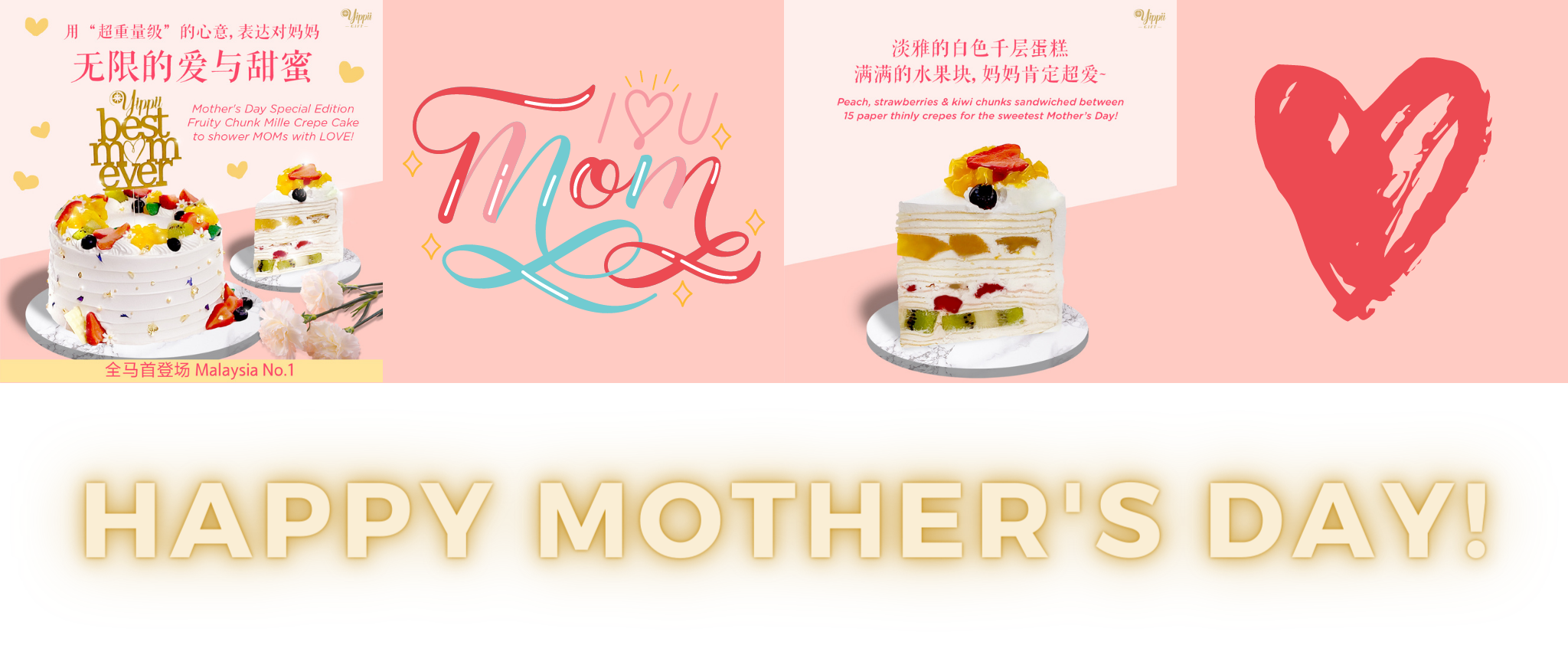 Mother's Day Fruity Chunk Mille Crepe Cake