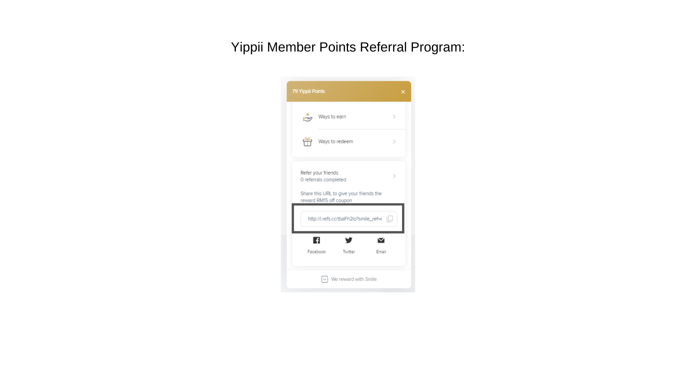 Yippii Referral Program