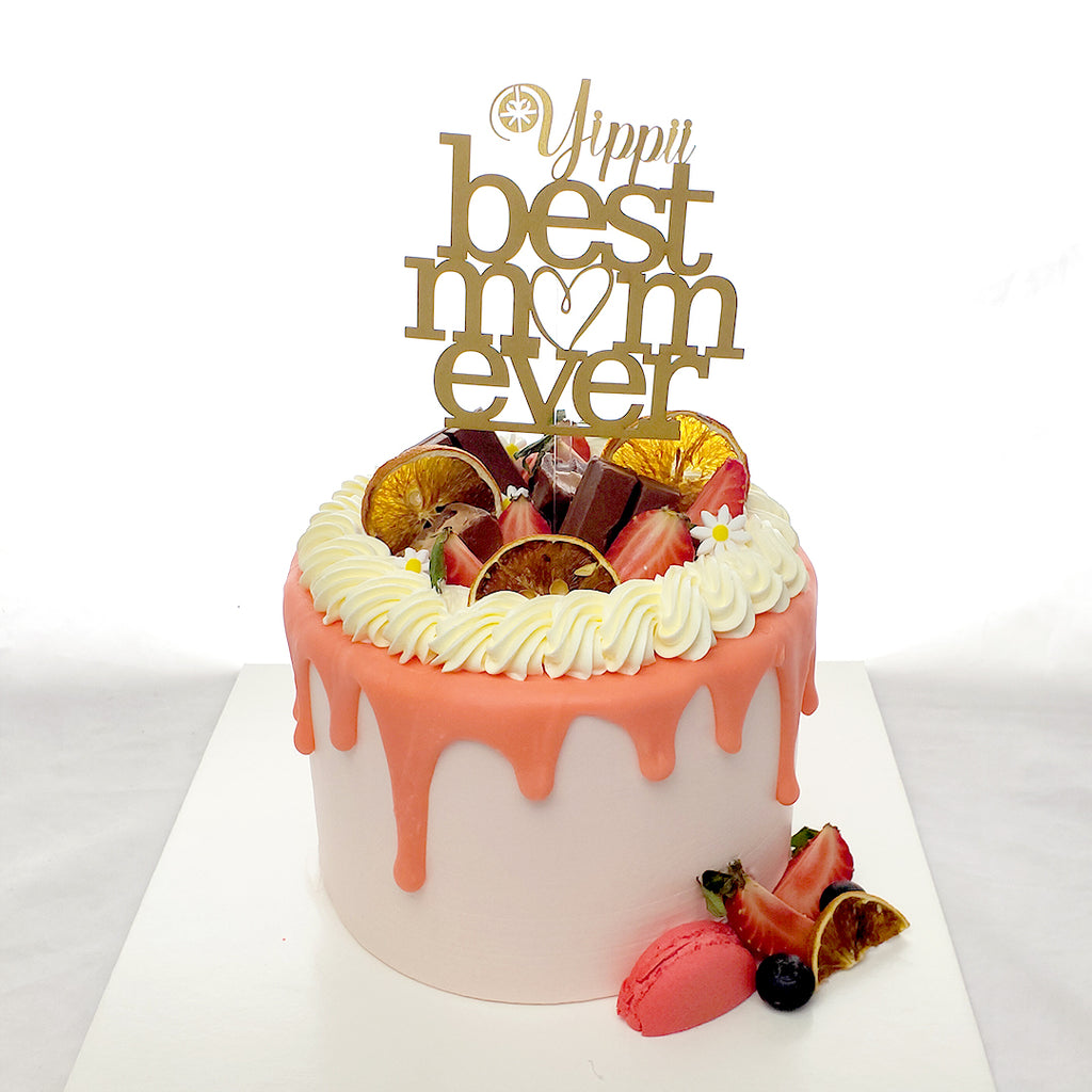 Peachy White Chocolate Cake / Mommy B-Day Cake