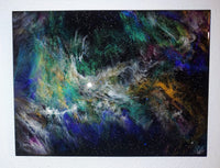 "SOLD - ""Osprey Nebula"" painting by Mike Palmer - 18""x24"" resin painting"