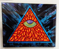 """All-Seeing Eye"" by Mike Palmer - 16""x20"" original painting"