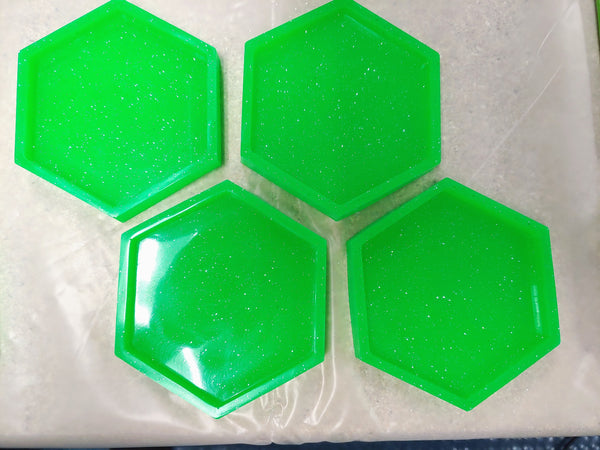 Glow in the dark coasters - neon green