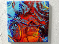 """Mantearia"" painting by Mike Palmer - 10""x10"" acrylic pour"